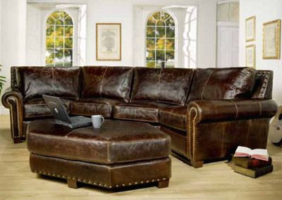Traditional Leather Furniture Sofas Chairs Loveseats Home Theater Free Shipping