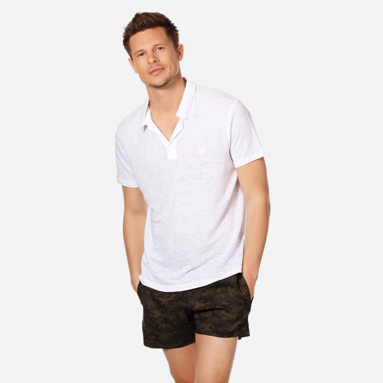 Men Linen Jersey Polo Shirt Solid | Vilebrequin Website | PYRE9O00 #businessattire