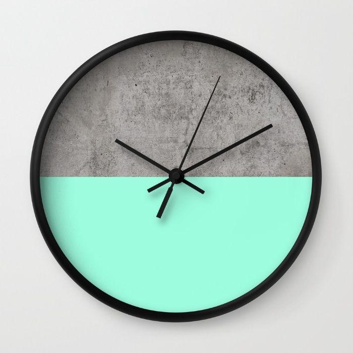 Sea On Concrete Wall Clock By Cafelab Wall Clock Design Diy Clock Wall Diy Clock