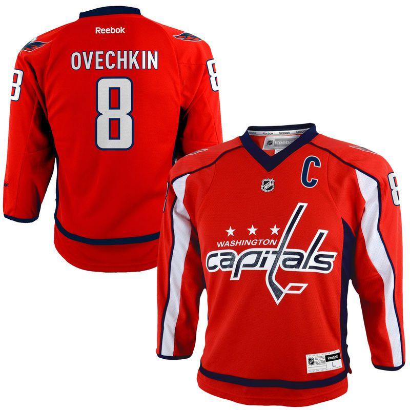 2ae430ad9 Alexander Ovechkin Washington Capitals Reebok Youth Replica Player Hockey  Jersey – Red