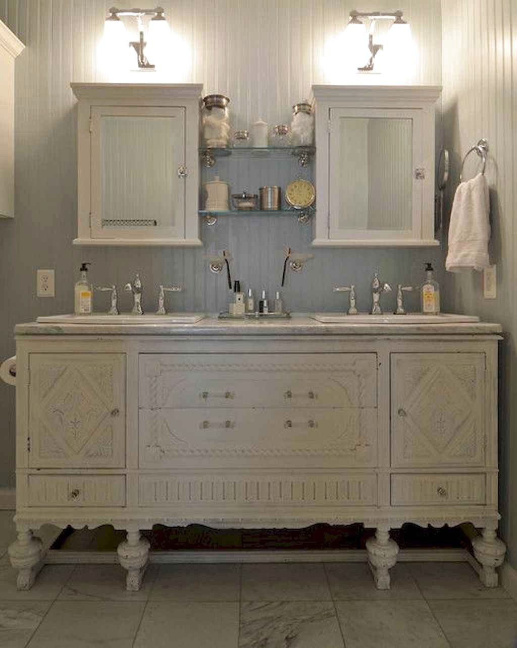 Amazing Farmhouse Bathroom Decor Ideas Exp Decor Shabby Chic Bathroom Vanity Bathroom Vanity Remodel Bathroom Vanity Decor