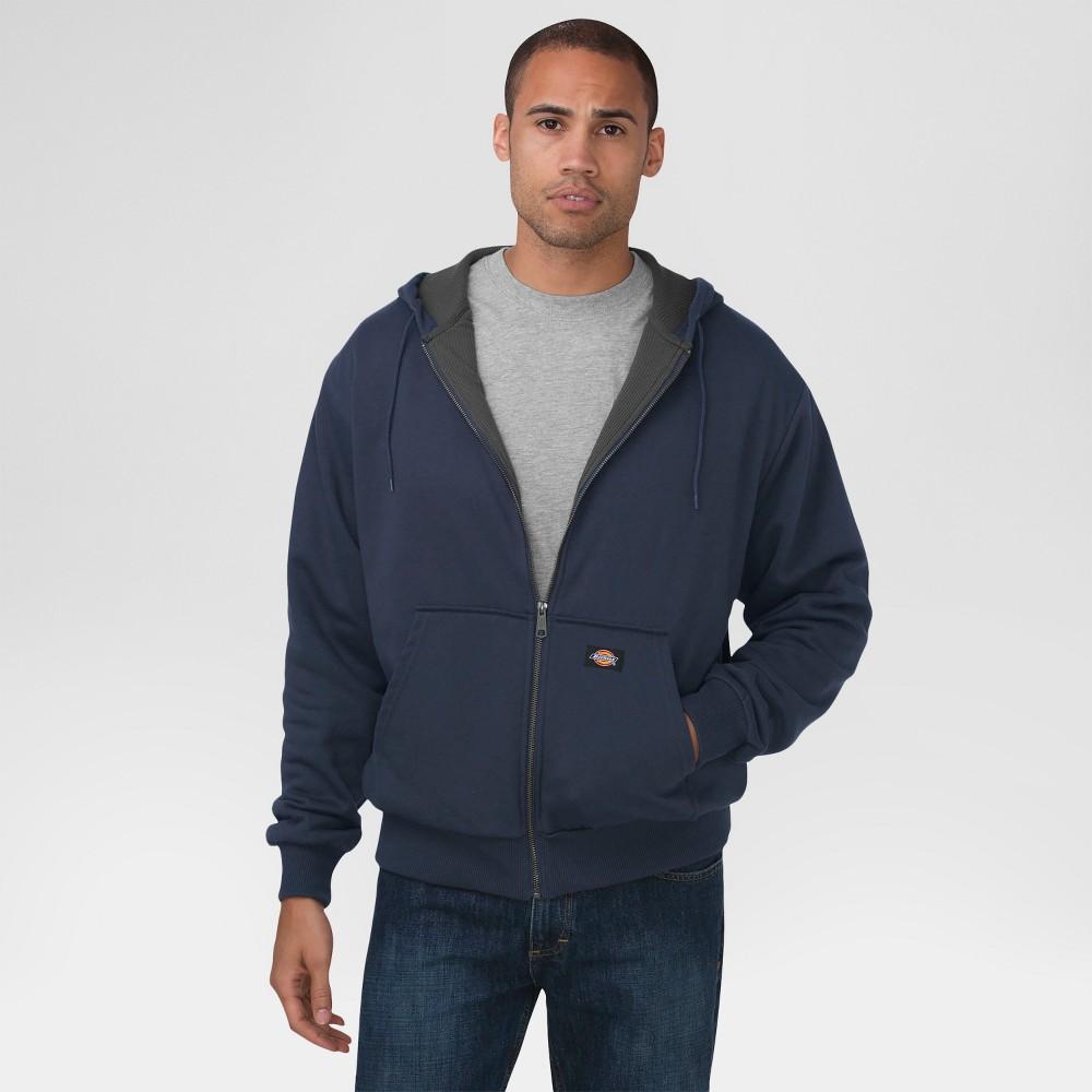 Dickies Men's Big & Tall Thermal Lined Fleece Hoodie- Dark Navy Xxxl Tall