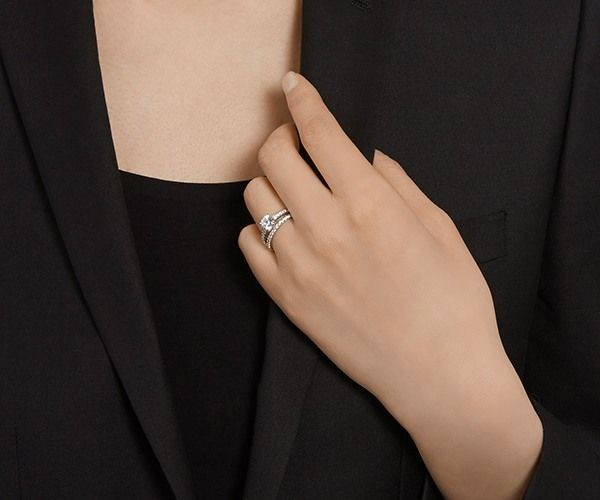 56ea480586be6 I Do Ring Set, White, Rhodium plated   Wedding Rings for Her   Rings ...