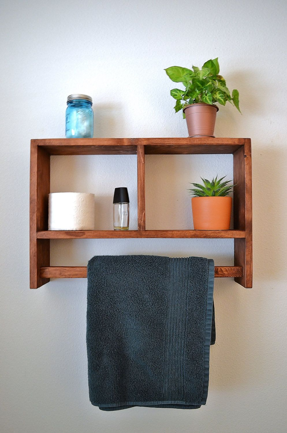 Rustic Shelf,Towel Rack,Bathroom Shelf,Rustic Shelf,Shelf,towel ...