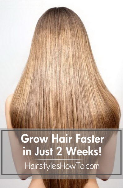 How To Grow Hair Faster In Just 2 Weeks Help Your Hair To Grow Faster And Strengthen The Follicles Using Coconut Oil C Grow Hair Hair Styles Grow Hair Faster