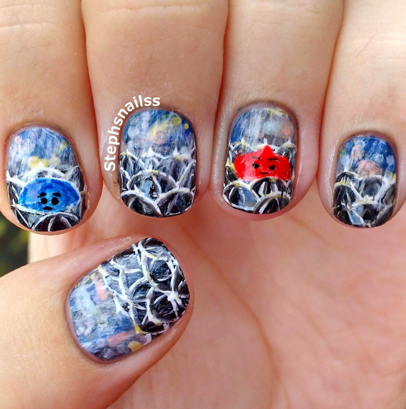 StephsNailss: Rainy Day Nails! From Pixar\'s \