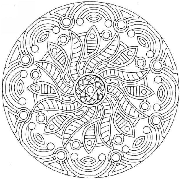 free printable mandala coloring pages complex mandala coloring pagesjpg - Complex Coloring Pages