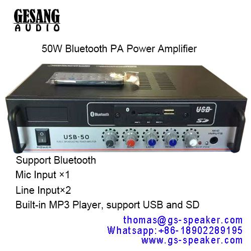 This Bluetooth Stereo PA Power Amplifier with Built-in MP3