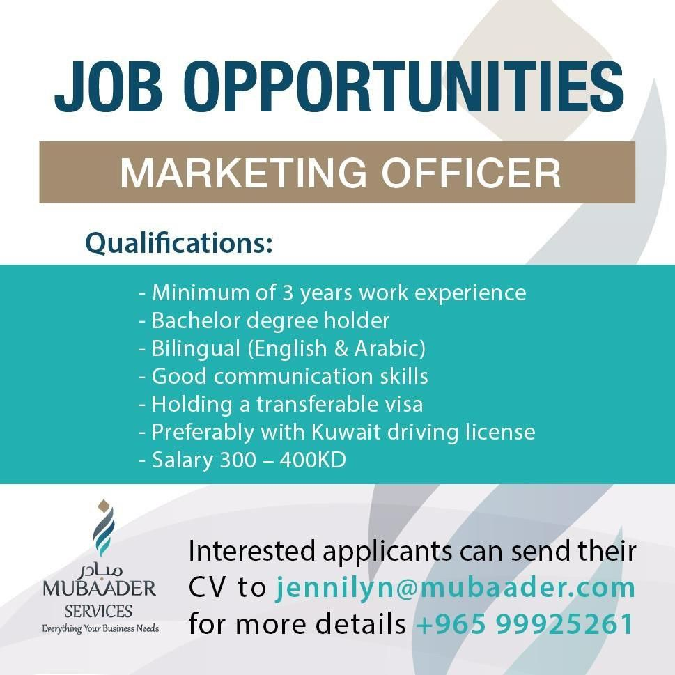 Sales Marketing Jobs In Q8 Iiq8jobs Indianinq8 Marketing Jobs
