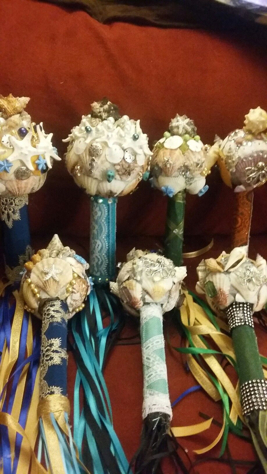 Mermaid bouquets, shells and baubles