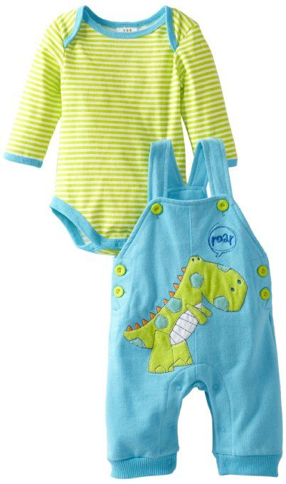 68ae53eaab80 Amazon.com: ABSORBA Baby-Boys Newborn Dinosaur Overall Set: Clothing ...