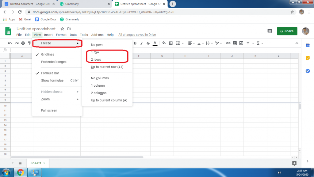 How To Freeze Row In Google Sheets Step By Step Google Sheets The Row Sheets