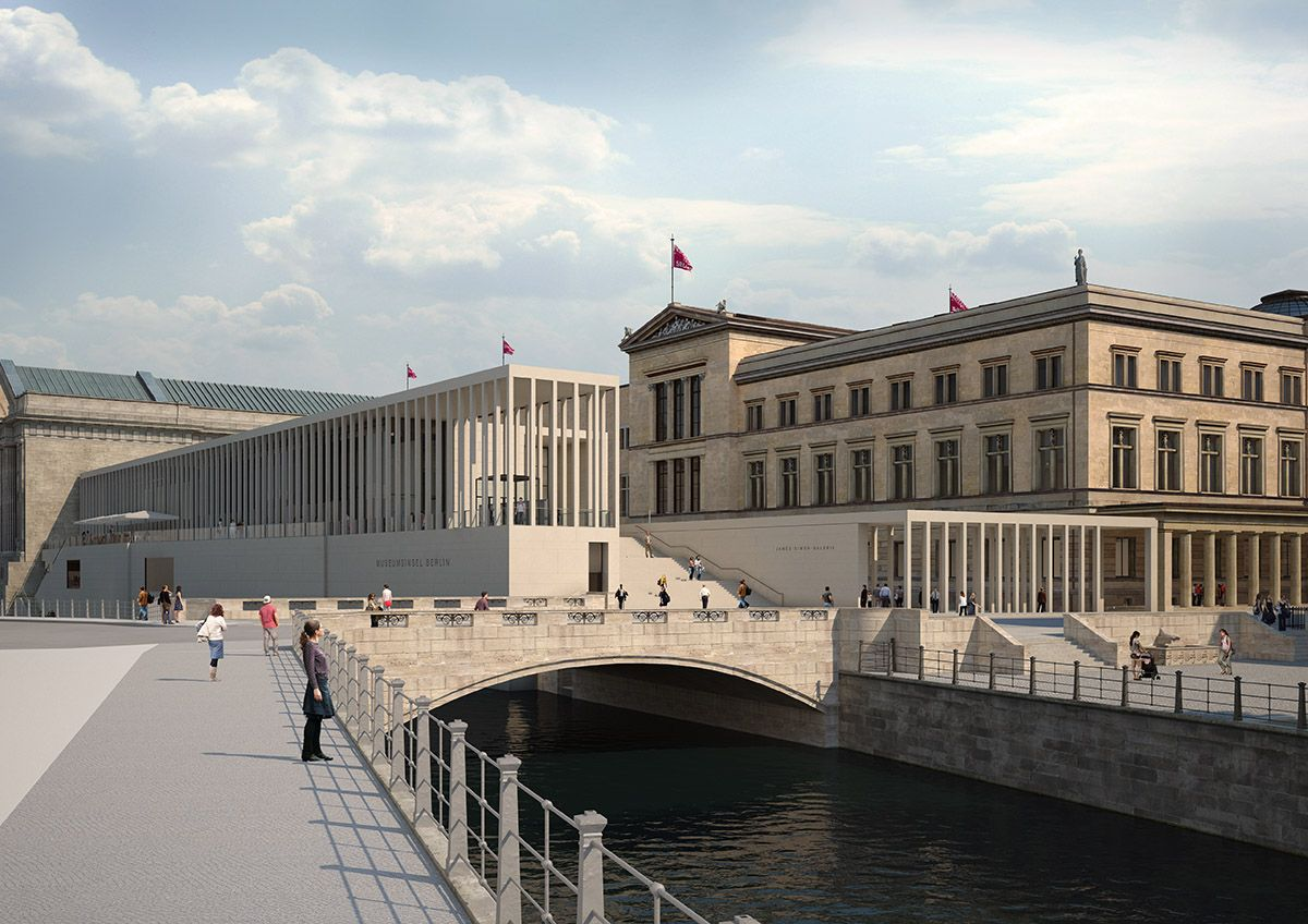 James Simon Galerie On Berlin S Museum Designed By David Chipperfield Architects Nears Completion In 2020 David Chipperfield Architects Design Museum Architect