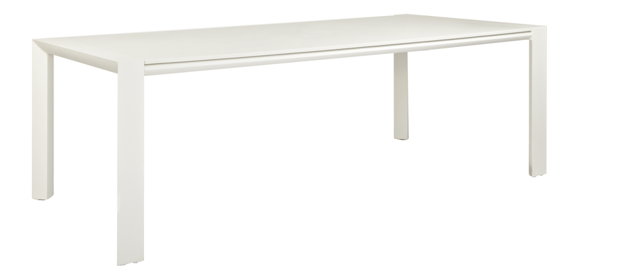 Blanche Table De Jardin Rectangulaire En Aluminium Laque Blanc Table De Jardin Table De Jardin Blanche Table Jardin Metal
