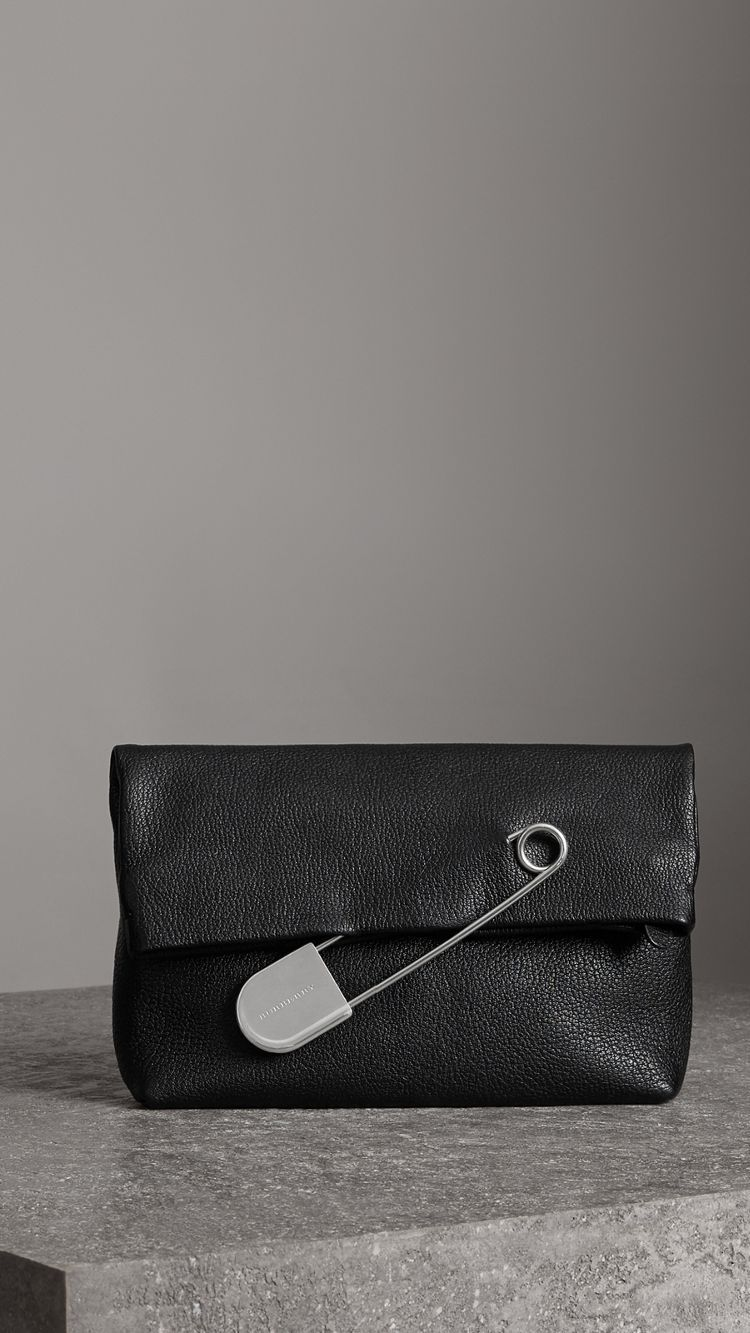 5340f666d The Medium Pin Clutch in Leather in Black - Women | Burberry United States  #designerclutchbags
