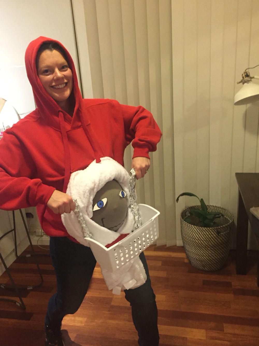 2c38cd5fdd1 My pregnant belly as an E.T. Dress up costume. Eighties pregnancy fancy  dress. DIY