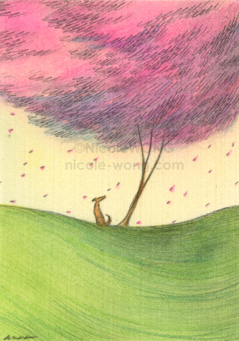 Cake Thief Original ACEO Drawing and Painting