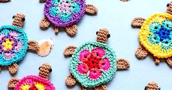 Turtles on the Beach [Free Crochet Pattern | Diy häkeln, Spielzeug ...