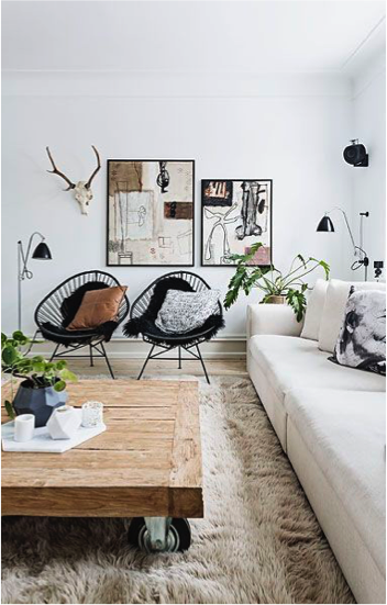 Witte bank in woonkamer | Furniture | Pinterest | Office decorations ...