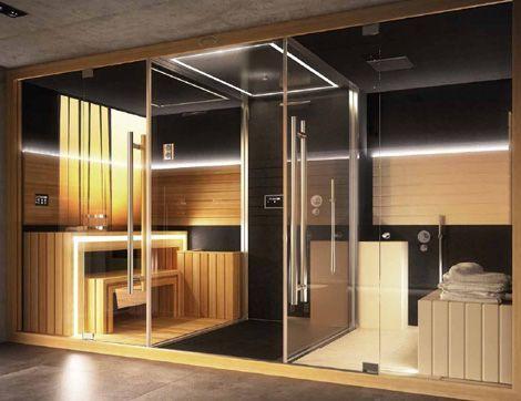 Sasha di jacuzzi con sauna doccia e hammam | Sauna & | Pinterest ...