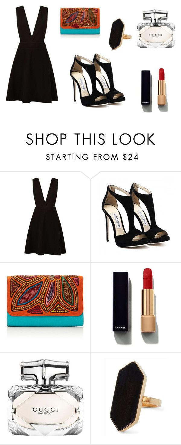 """""""Black combination for party"""" by amrabasic ❤ liked on Polyvore featuring New Look, Mola SaSa, Chanel, Gucci and Jaeger"""