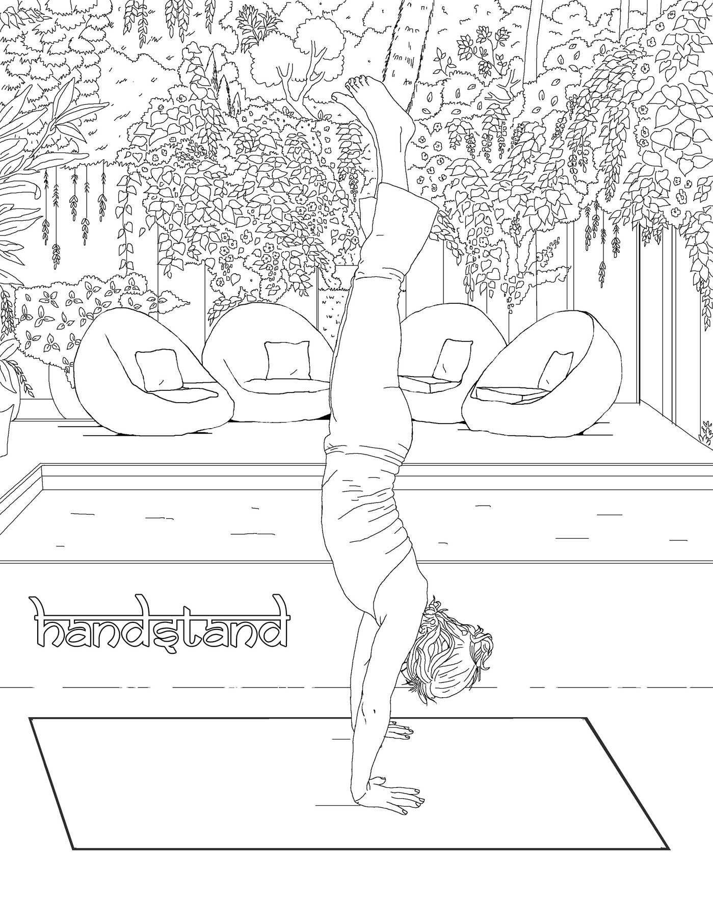 The Yoga Poses Adult Coloring Book By M Anthony