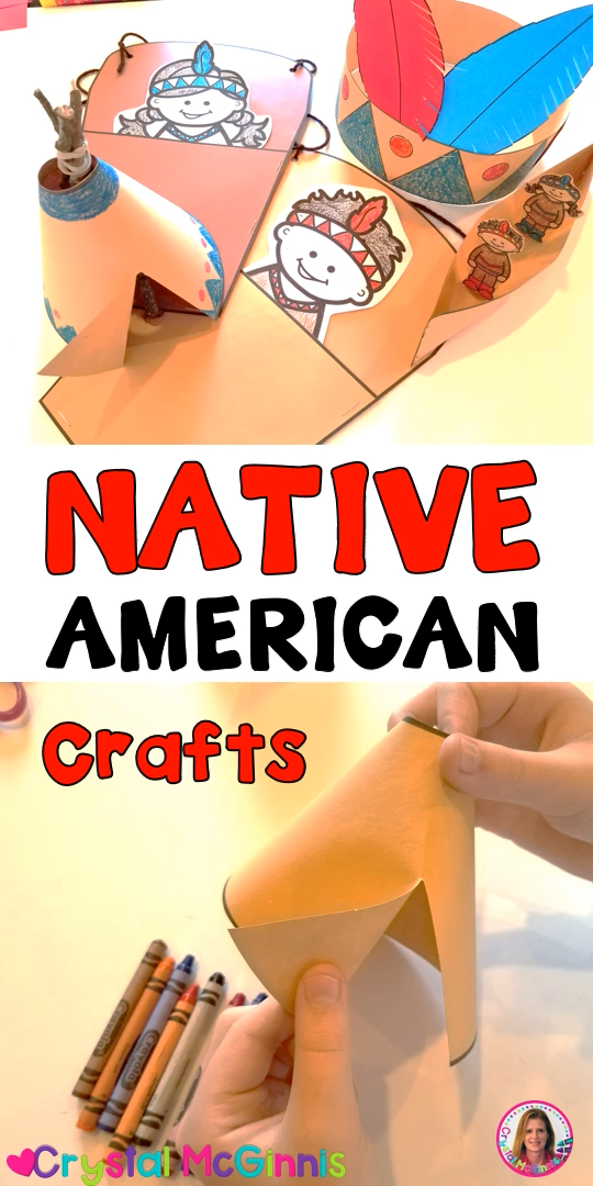 Learn how to create 4 Native American crafts including a teepee, headband, papoose, and canoe. These are perfect for Thanksgiving in the classroom!