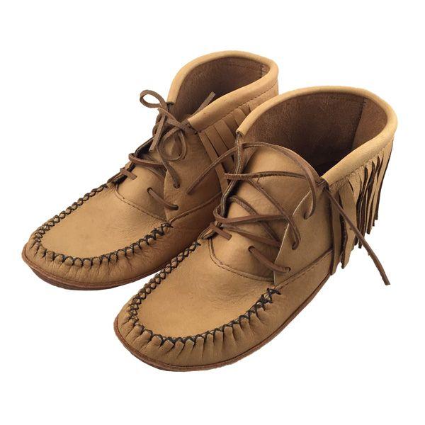 Men's Fringe Moosehide Moccasin Boots