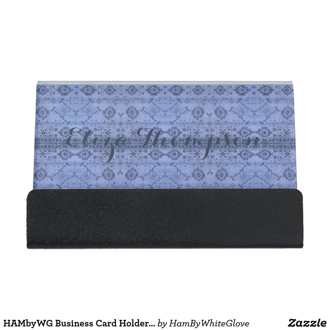 HAMbyWG Business Card Holder India Ink Light Blue | HAMbWG - Office ...