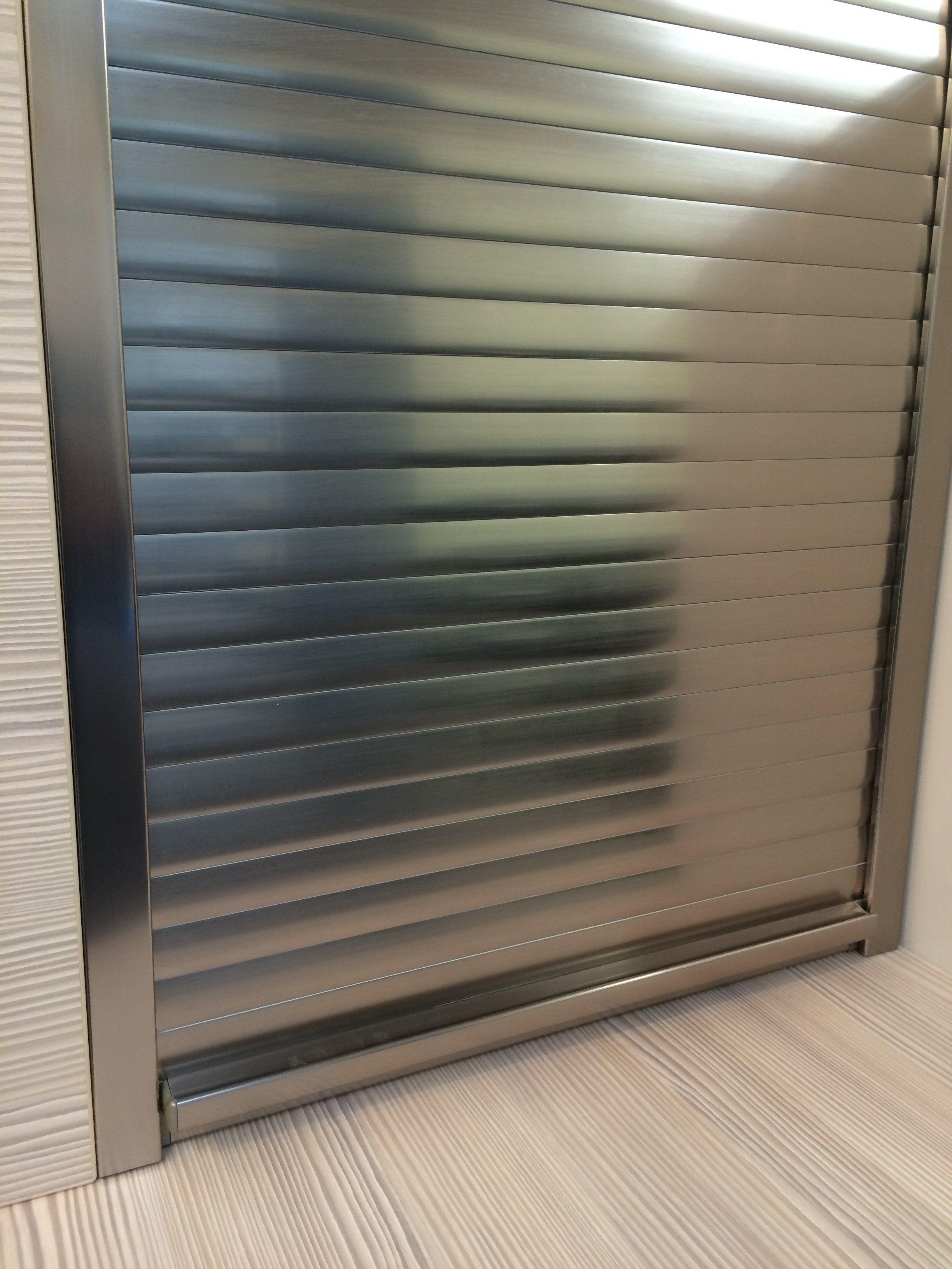 1000mm Tambour Door Kits Stainless Steel 1450mm High East Coast Kitchens Bedrooms Ltd Stainless Steel Doors Kitchen Doors Roller Doors