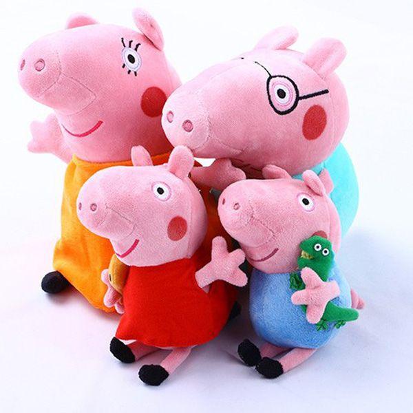 Peppa Pig Baby Anime Toys Peppa Pig Plush Family Set Doll,$6.74