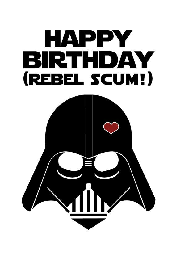 Star Wars Funny Birthday Card Diy Printable Products Pinterest