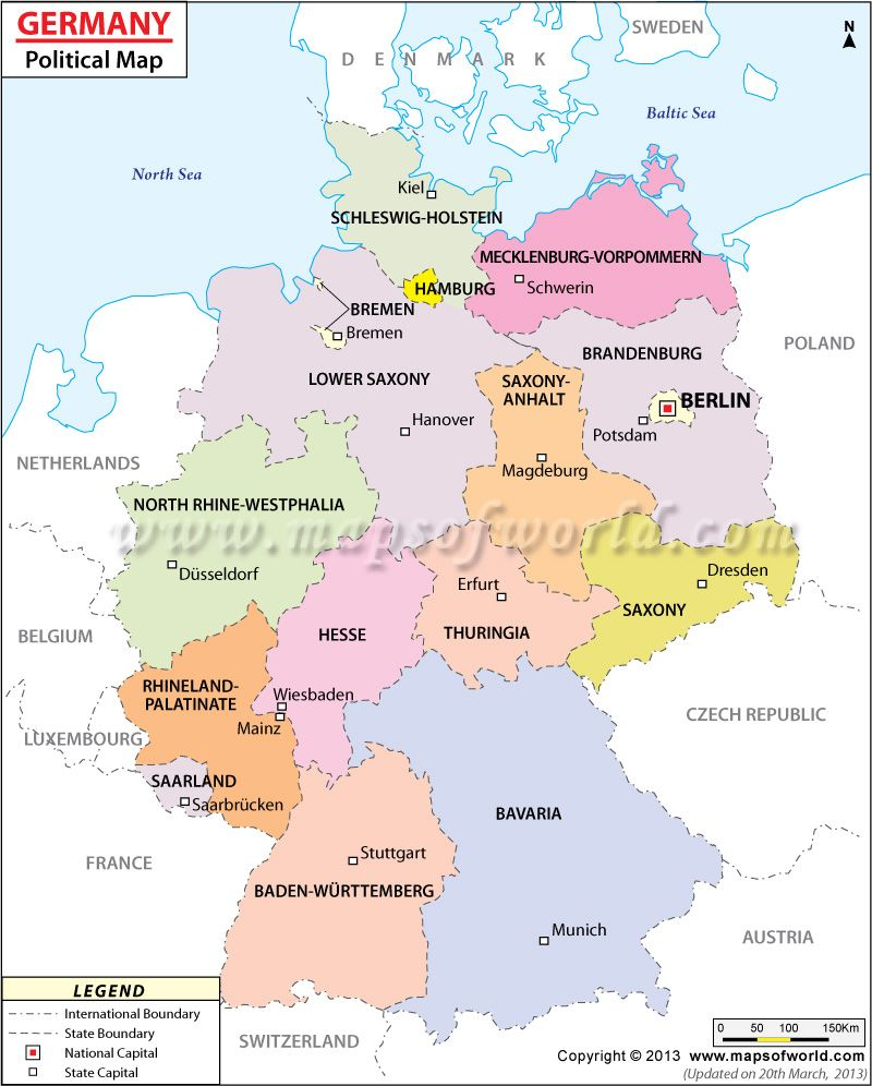 Political Map Of Germany Homeschool Curriculum State Map