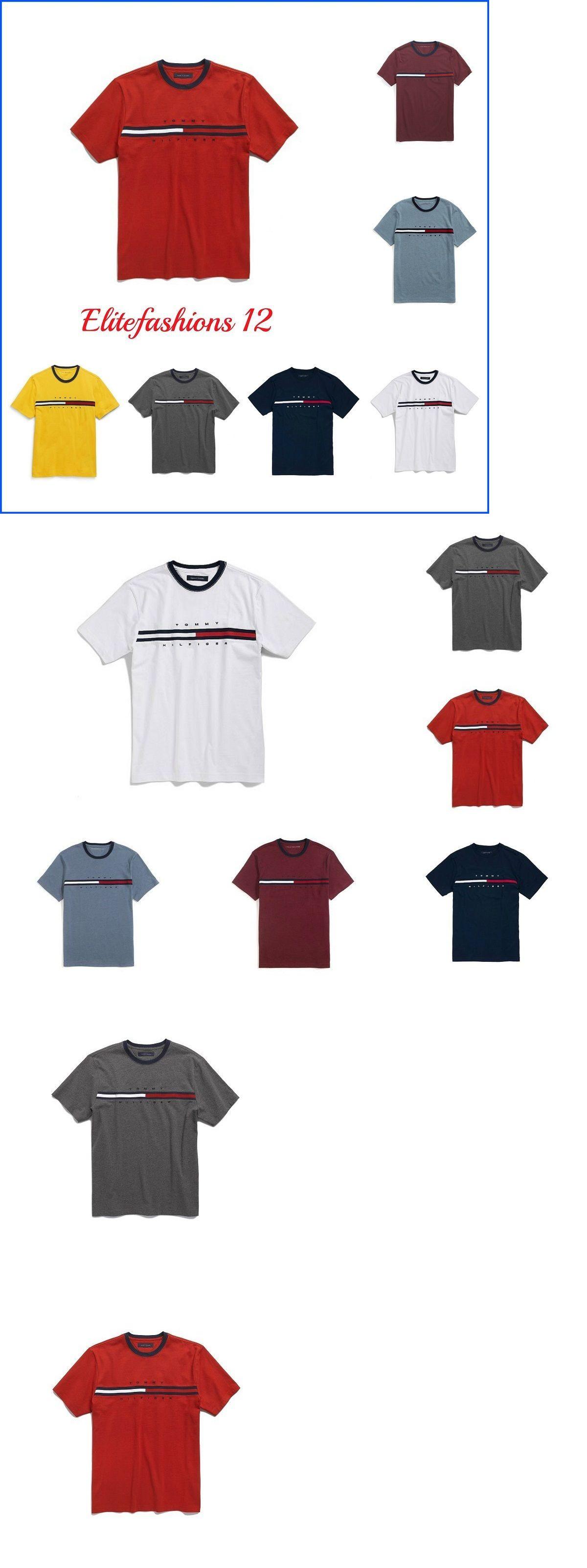 c89efc4eb T-Shirts 15687: Tommy Hilfiger Mens Signature Logo Crew Neck T Shirt,Xs, S,M,L,Xl,2Xl -> BUY IT NOW ONLY: $30.99 on eBay!