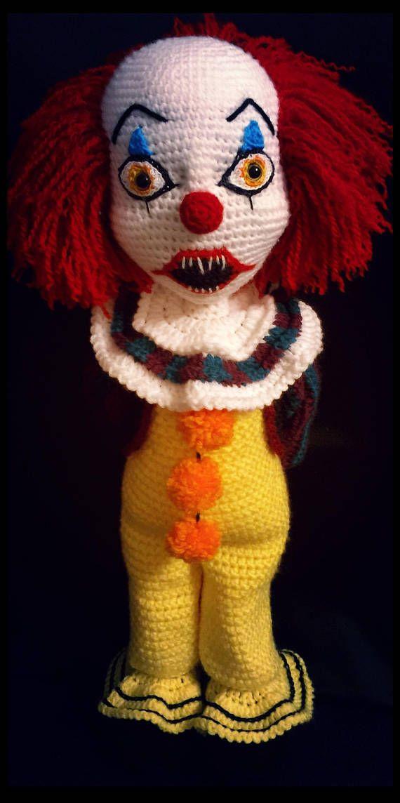 Creepy Clown Crochet Pattern Crochet Toys Pinterest Crochet