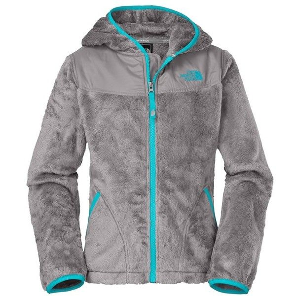 The North Face 'Oso' Hooded Fleece Jacket (Little Girls & Big Girls) ($66) ❤ liked on Polyvore featuring jackets