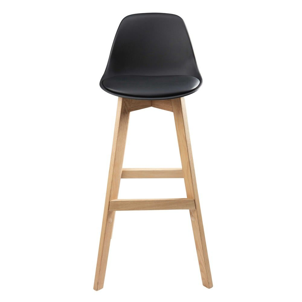 Chaise De Bar Style Scandinave Noire Et Chene Massif Maisons Du Monde Chaise Bar Chene Massif Chaise