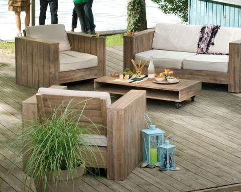 Salon Jardin Palette Blanc : Salon de jardin en palette | piscines ...
