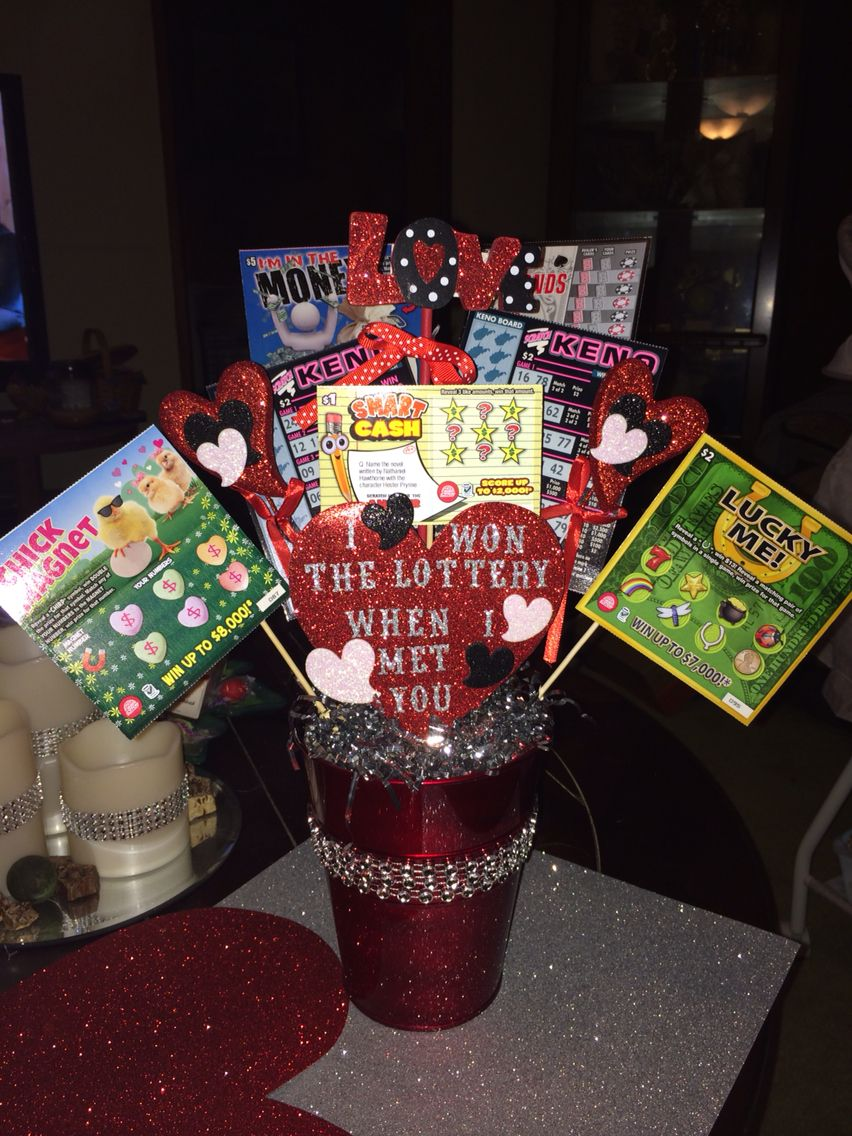 Diy valentine 39 s day gift for him i won the lottery when i for Good gifts for him on valentines day