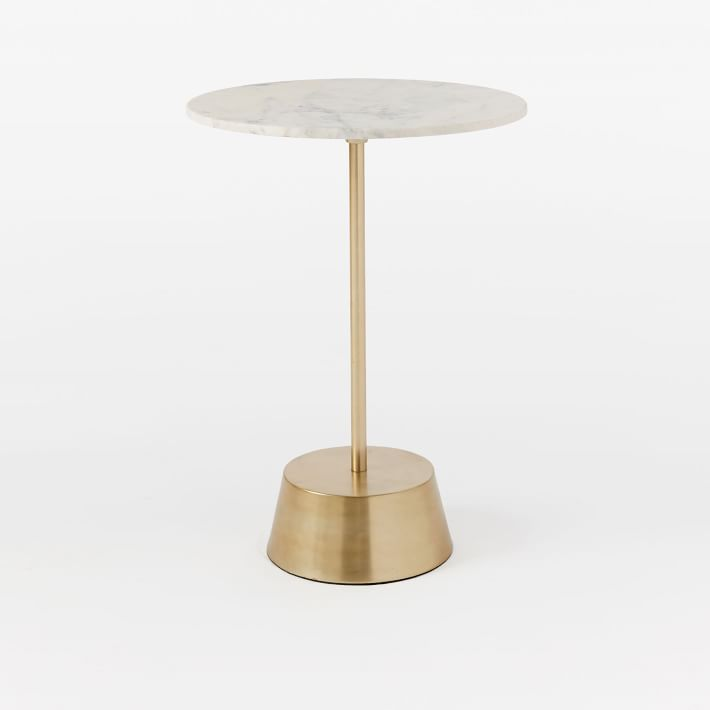 marble top bedroom furniture%0A With its sculptural metal base and available in a range of top materials  and finishes  our Maisie Side Table make a mondern statement displayed  alone