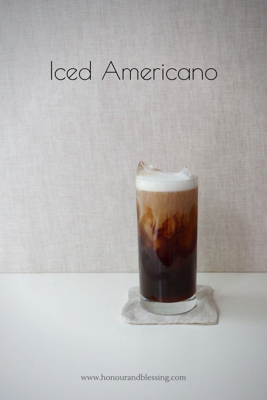 Iced Americano With Cold Foam Iced Americano Americano Cafe Americano