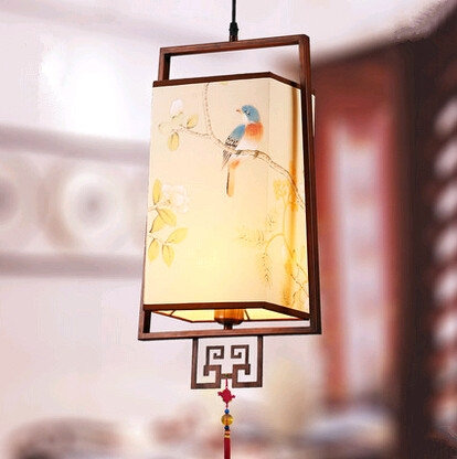 113.76$  Watch here - http://alip02.worldwells.pw/go.php?t=32647534730 - New Chinese style flower bird pattern fabric Pendant Lights Antiqued palace elegant  lamp for barporch&stairs&pavilion ZLDD051