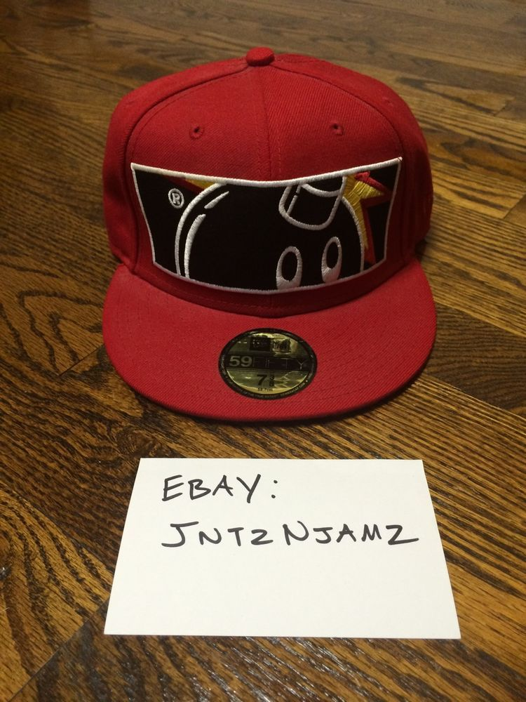 The Hundreds Red New Era Adam Bomb Wide Size 7 3 8 Fitted Hat Cap Undftd  HUF  NewEra 65aeb5f6deb0