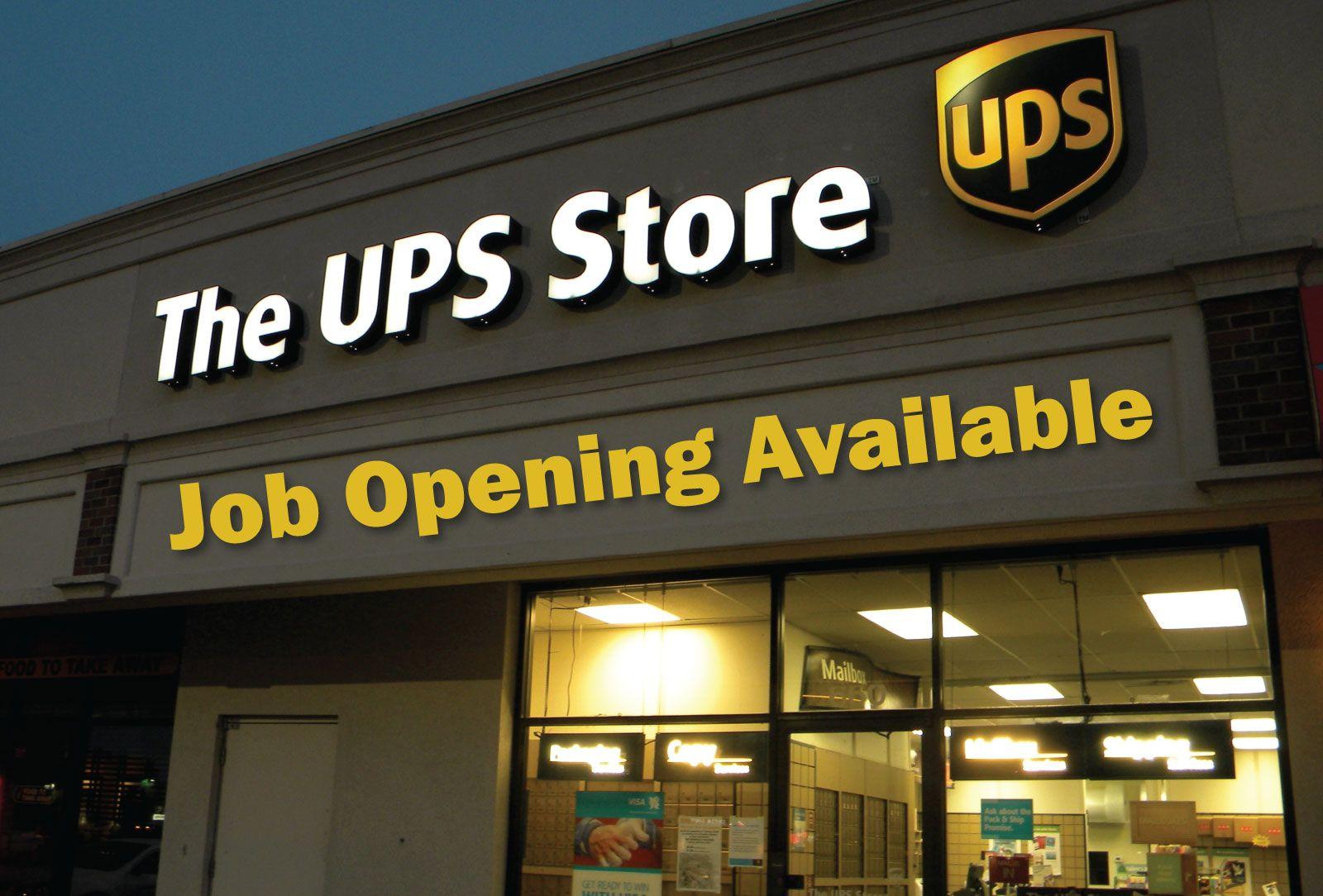 JOB OPENING UPS Store Associate Employer United
