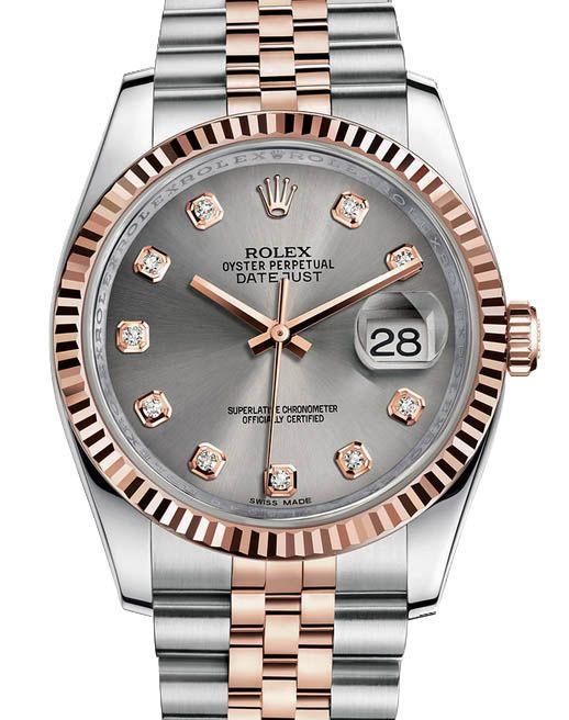 9cc05a4d4d52 Rolex 116231 silver Datejust Steel and Everose Gold.  rolex - золотые -  швейцарские мужские наручные часы