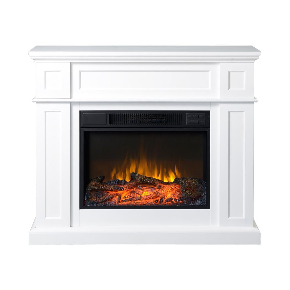 41inch wide electric fireplace mantel in white home ideas rh pinterest com