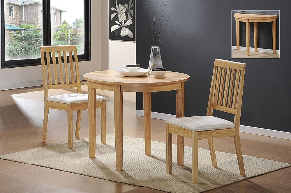Inspirational Small Round Dining Table And Chairs  Great Small Endearing 2 Piece Dining Room Set Design Decoration