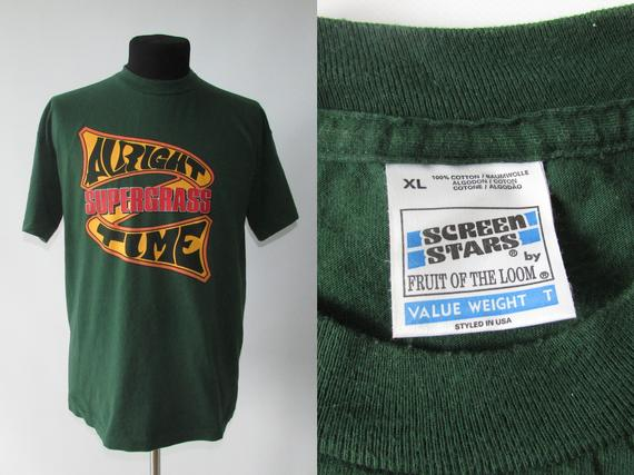 Size XL | 90s Vintage 1995 Supergrass Alright Time Britpop