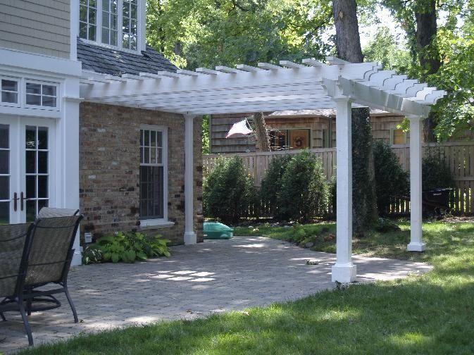 pergola over half brick patio pergola designs pergola cedar rh pinterest com