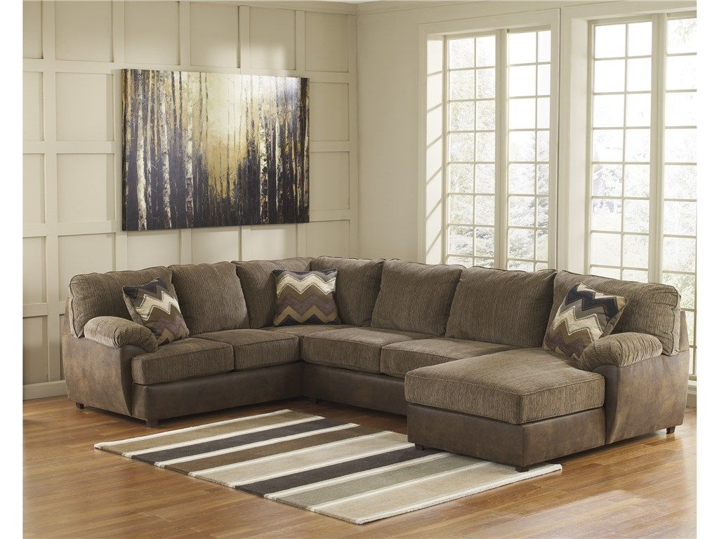 signature design by ashley living room cladio right chaise sectional rh pinterest fr